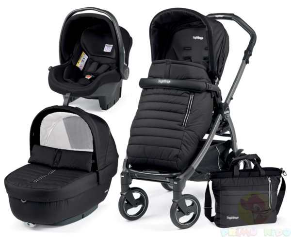 Peg Perego 2018 Бебешка количка Book 51 Elite Modular Breeze Noir + седалка Pop Up Completo + шаси Book 51